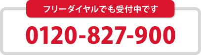 【フリーダイヤル】0120-827-900